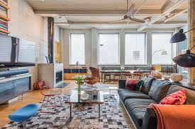 Living Room Bar And Terrace Momofuku Milk Bar Owner Cooks Up 4m For Chelsea Penthouse Curbed Ny