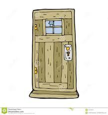 cartoon clipart of doors open door animated pencil and in color
