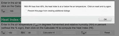 Heat Index Calculator Charts Iweathernet