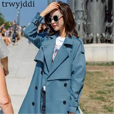 Fashion Windbreaker <b>Coats</b> Long section 2019 New <b>Spring Autumn</b> ...