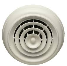 capital crown white round ceiling diffuser with 8 register boot