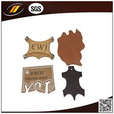 china self adhesive leather patch embossed leather label hj0607 china embossing leather patch printed leather label