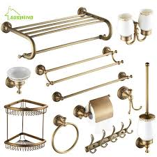 Античный матовый латунный <b>набор аксессуаров для ванной</b>...