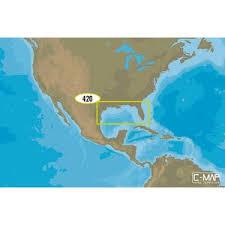 Na M420 Gulf Of Mexico Bathymetric Chart C Card