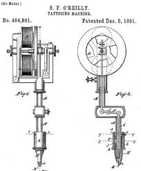 electric tattoo machine history tattooing machine samuel f o reilly assignee patent 464801 8