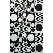 accessories black and white rug