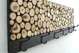 Used Coat Racks I love these coat racks or hangers with wood slices They look 88