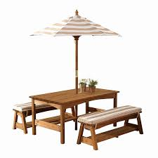 best kidkraft outdoor table and bench set with cushions umbrella