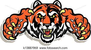 tiger face growling drawing.  Drawing Tiger Face With Claws With Face Growling Drawing W