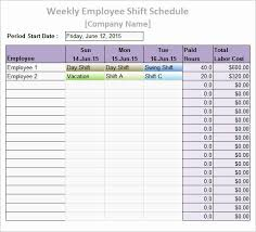 Employee Shift Employee Shift Schedule Template Unique Work Schedule