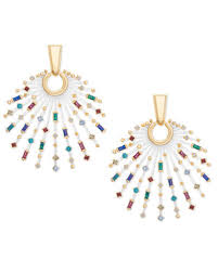 quick view fabia gold statement earrings in jewel tone mix