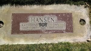 grave site of katherine hansen billiongraves headstone image of katherine hansen