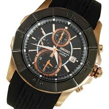snad04p1 seiko black rose gold chronograph analog sports watch snad04p1 seiko lord seiko black rose gold chronograph
