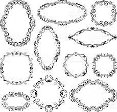 black filigree vector fl design filigree frame elements vector black royal frames for or