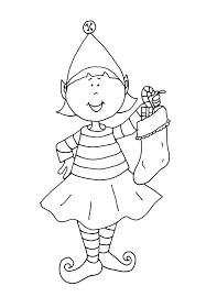 Free Printable Christmas Elf Coloring Pages 6 Futuramame