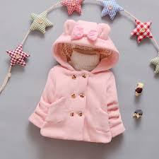 girls autumn and winter coat 0 2 years old infant baby girl cartoon double ted jacket baby girls hooded outerwear coat kids puffer jackets kids spring