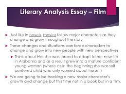 literary analysis essay film iuml micro just like in novels movies 1 literary analysis essay film