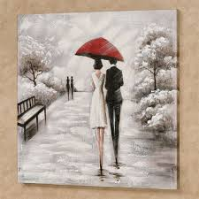 rainy stroll couple with red umbrella canvas wall art rainy stroll canvas wall art black white on couple with red umbrella wall art with rainy stroll couple with red umbrella canvas wall art