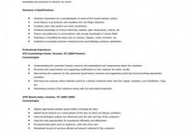 Download Cosmetologist Resume Samples Just Out School – Document Manager