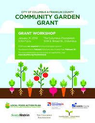 community garden grant work at the columbus foundation on thursday january 31st