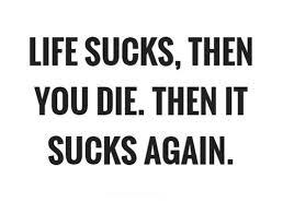 Life Sucks Quote