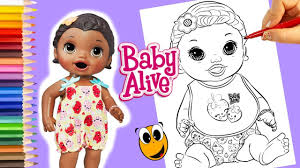 Small Picture Snackin Lily Baby Alive Coloring book pages dolls for girls Baby