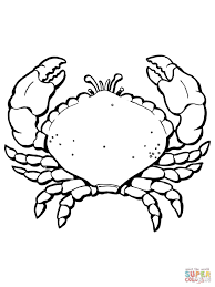 Coloring Crab With Big Claws Coloring