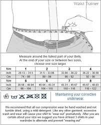 1 Like No Other Size Chart Waist Trainer Men This Corset Belt For Men Let You Instantly Look Visibly Slimmer