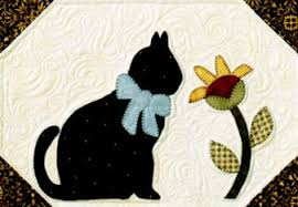 "Quilt Pattern Designer - The Quilt Company & The fusible web appliqué Cat & the Sunflower pattern comes from our ""Garden  Friends"" series of birdhouses. We used a machine blanket stitch to finish  the ... Adamdwight.com"