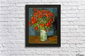 red poppies by van gogh wall decor frame