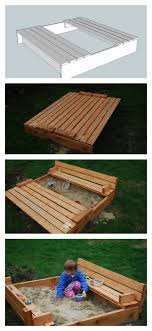 remarkable wooden sandbox with seats and ana white sand box with built in seats diy projects