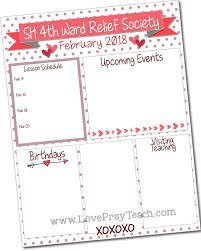 february newsletter template february 2018 relief society editable newsletter and calendar