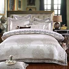 grey and gold bedding luxury jacquard silk bed linen grey silver gold satin bedding set bedspread