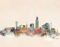 lincoln nebraska painting lincoln nebraska skyline by bleu bri