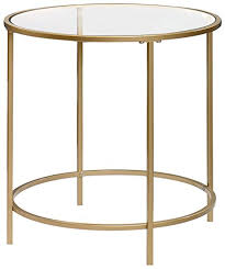 gold end table. Sauder International Lux Round End Table In Satin Gold T