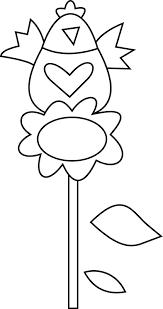 Gallina Sul Fiore Girasole Disegno Da Colorare Per Bambini Disegni