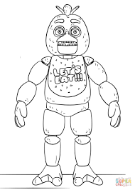 Shocking Ideas Fnaf Coloring Pages Bonnie Picture Concept Toy Chica
