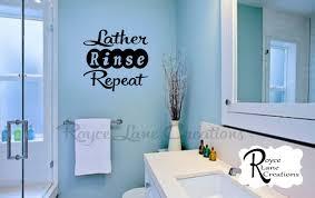 Bathroom Decal- Lather Rinse Repeat Bathroom Wall Decal- Bathroom ...