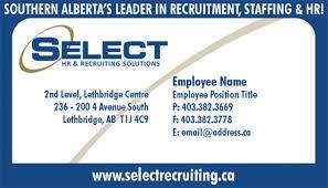Select Recruiting Business Card The Creative Ninja