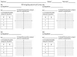 writing linear equations worksheet answers streamclean info