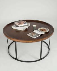 best and newest dark wood round coffee tables throughout coffee tables industrial round coffee table