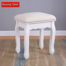 wood dressing table stool piano chair rest makeup seat soft padded vintage