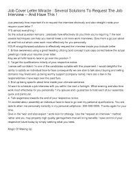 Cover Letter After First Interview Cover Letter