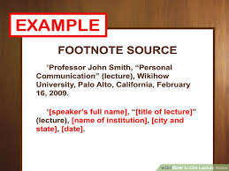 ways to cite lecture notes wikihow image titled cite lecture notes step 2