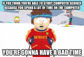 Ski instructor on studying computer science : AdviceAnimals via Relatably.com