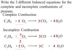 4 write the 3 diffe balanced equations