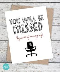 Famous Farewell Quotes For Colleagues Coworker Card Funny Miss you card Retirement New Job Good Luck 14
