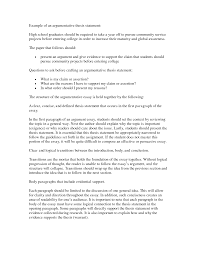 example of thesis statement for argumentative essay thesis  thesis statement example for essays what is a thesis statement in thesis statement examples for essays