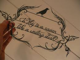 papercut why is a raven like a writing desk by chunkyxd