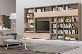 modern living room wall units with